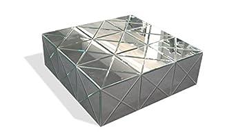 Mobiliermoss Romy Table Basse En Miroir Moderne Argent