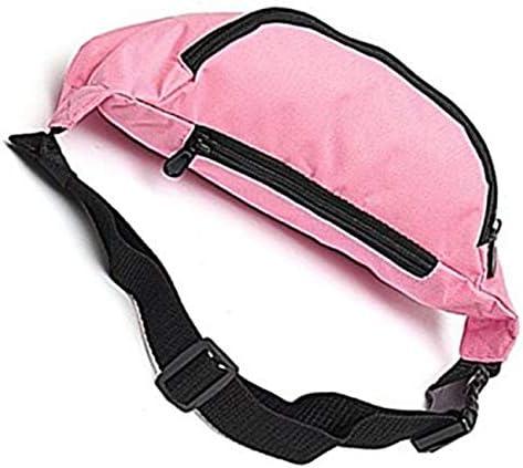 Unisex verstellbarer Taillenreißverschluss Reiselauf Wandern Radfahren Paket Tasche zum Aufbewahren von Telefon Brieftaschen-Schlüsseln, pink-rot