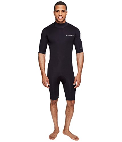 Rip Curl Aggrolite 2MM Back Zip Spring Suit Wetsuit, Black, -