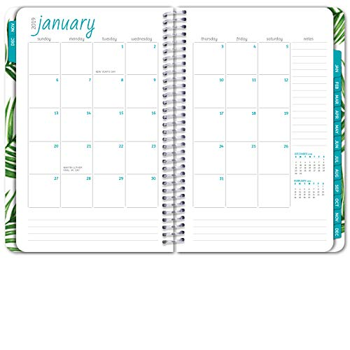 hardcover calendar year 2019 planner november 2018 through december 2019 55x8