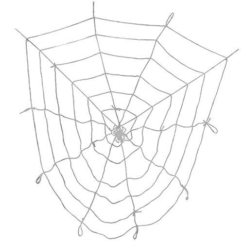 Topbuti 9 ft White Spider Web Halloween Decorative Prop for Halloween Outdoor Yard Haunted House Decoration