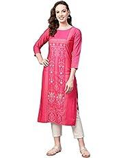 Vaamsi Women's VPK1779 Polyester Crepe Straight Kurta
