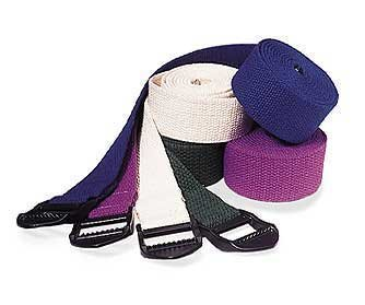 Yoga 6' Stretching Strap (20-Pack), 6 Feet, Purple, Buckle by Nu-Source
