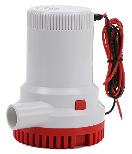 - HOMPAT 1500 GPH 12V Submersible Boat Bilge Water Pump,Boat Marine Plumbing Electric Bilge Pumps,Non-Automatic (1500 GPH)