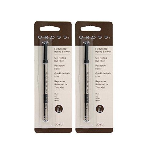 Cross Selectip Rollerball Refill Med. Pnt Black For Ballpnt Pen 2 Refills 8523