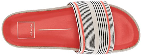 Stripe Femmes Elastic Vita Coral Slide Dolce Chaussures qZXgnA