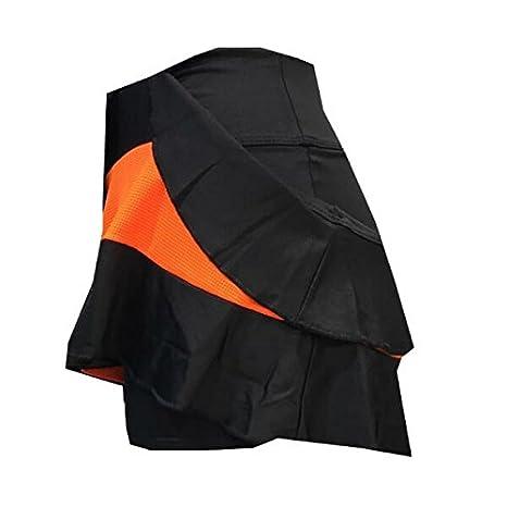 Falda Padel Black Crown Mujer Berna Naranja/Negro-S: Amazon.es ...