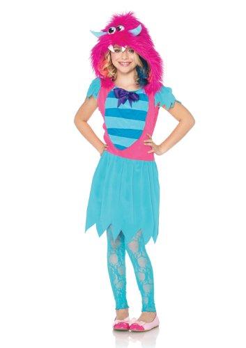 Growling Gabby Costumes (Leg Avenue Growling Gabby Furry Monster Costume, Blue/Pink, Medium)