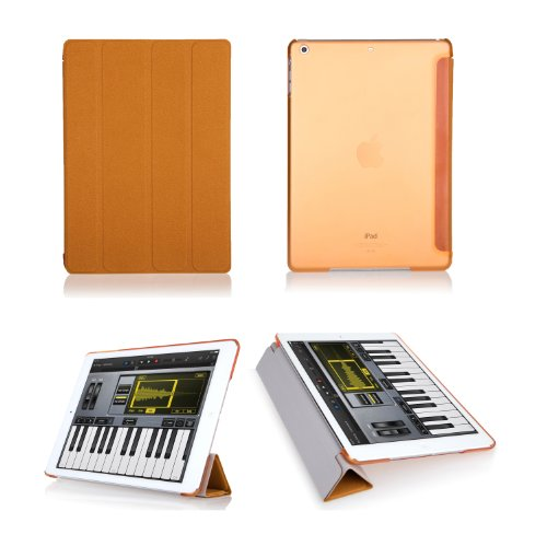 Bear Motion Premium Folio Case with Stand for Apple iPad (Support Smart Cover Function) (iPad Air, Orange)