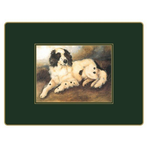 Lady Clare English Continental Placemats - Sporting Dogs - Set of 4 - 15.5 x 11.5 inch by Lady Clare Placemats