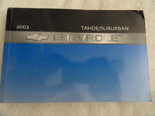 2003 Chevrolet Tahoe, Suburban Owners Manual