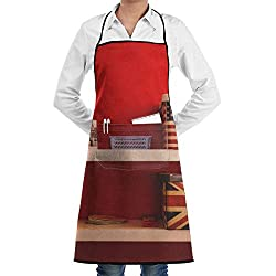 Jtlcbc American Book Box Dictionary Adjustable Bib Chef Pockets And Extra Long Ties Kitchen Apron For Cooking Baking Crafting Gardening Bbq Gift