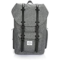 Junehouse Laptop Fashion Men Women Backpack for School/ Travel/ Hiking/ Camping/ Casual/ Daily Use Fit Up to 15 Inch Laptop and Tablets Linen Gray