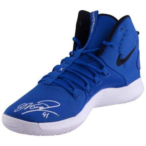 DIRK NOWITZKI Autographed Dallas Mavericks Hyperdunk Size 15 Blue Shoe FANATICS (Basketball Mavericks Nba Shoe)