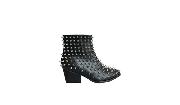 9aa851ade9e Amazon.com: Y.R.U. Aurora Spike Studded Ankle Boots – Size 10: Shoes