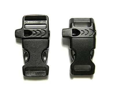 """8 - 5/8"""" & 1/2"""" Whistle Buckles (4 Each) For Paracord Bracelets"""