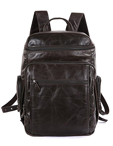 Men Travel Backpack, Berchirly Real Leather Backpack Camping Hiking School bag by Berchirly