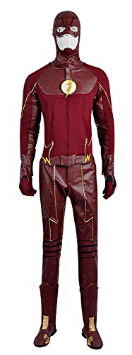 Flash Costume Cosplay (Mtxc Men's The Flash Season II Cosplay Costume Barry Allen Full Set Size X-large Red)