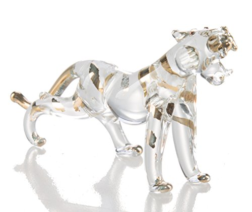 - Tiger Clear Hand Blown Blowing Glass Art Animal Fancy Collectibles