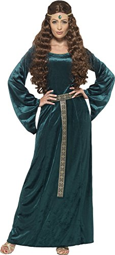 Smiffy's Women's Medieval Maiden Costume, Dress and Headband, Tales of Old England, Serious Fun, Plus Size 18-20, 45497