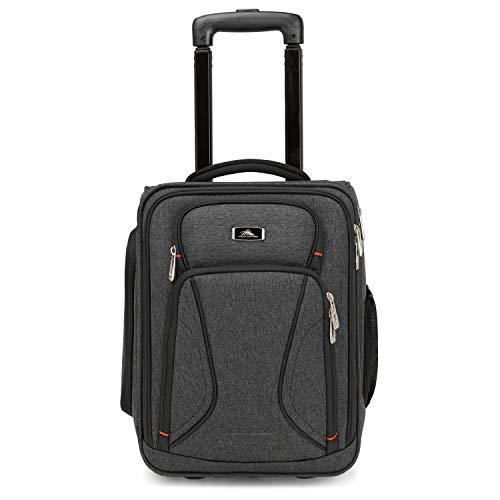 High Sierra Endeavor Wheeled Underseat Carry-On, Wheeled Laptop Bag Carry-on, Travelon Underseat Luggage with Wheels, Underseat Wheeled Bag with Pass-Through Sleeve, Perfect for Business Travelers