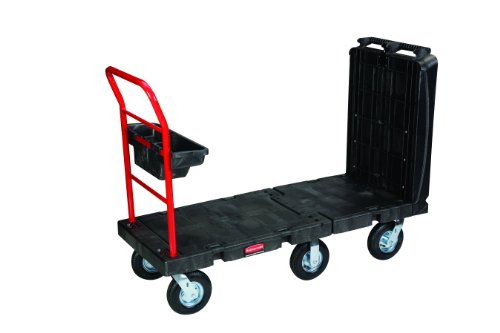 Rubbermaid Plastic Platform Truck - Rubbermaid Commercial Convertible Platform Truck