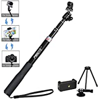 Telescoping Selfie Stick Tripod Stand Monopod for Gopro Hero 5/4/3/2/1/SJCAM 4000/5000/6000/XiaoYi Action Camera and Cell Phone