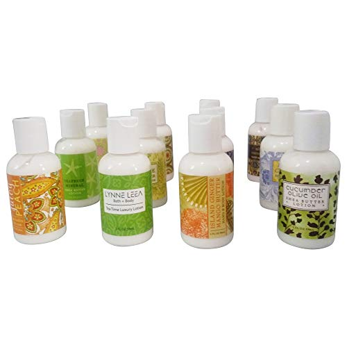 - Lynne Leea Botanical Scented Hand Body Lotion Sampler Gift Set of 12 2 ounce Travel Sized Bottles Gift Boxed