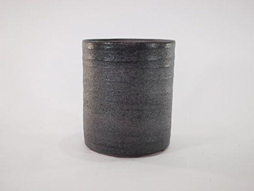 盆栽妙 信楽焼 盆栽鉢 4号 鉄イラボ切立 鉢幅12.5cm×高さ15cm 陶器製 植え替えキット付き 30673A1323