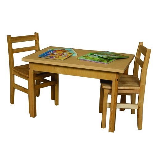 Wood Designs 2436HPL20 High Pressure Laminate Table with Hardwood Legs, Rectangle, 20'', Natural by Wood Designs
