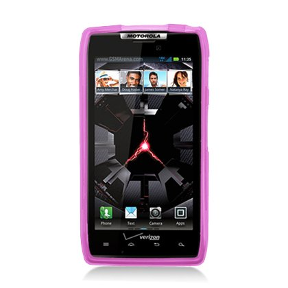 Aimo Wireless MOTXT913SKC232 Soft and Slim Fabulous Protective Skin for Droid Razr MAXX - Retail Packaging - Pink Plaid