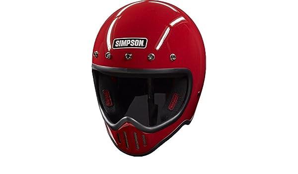 Simpson M50DL5 Model 50 Dot Helmet Lrg Red