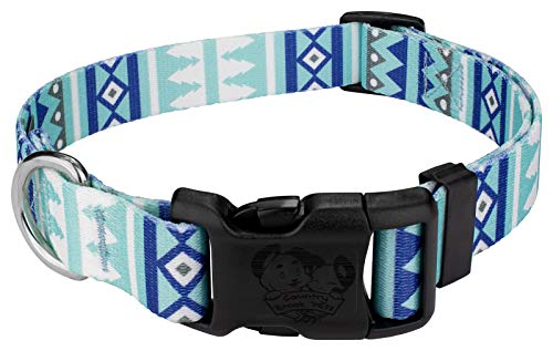 (Country Brook Petz | Snowy Pines Deluxe Dog Collar - Christmas Collection with 11 Designs (Large))