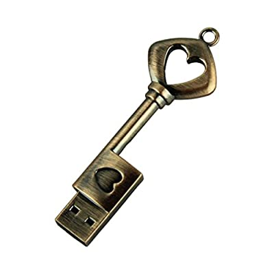 Mchoice USB Pen Drive Metal Pure Copper Heart Key USB Flash Drive USB Key Genuine 4GB