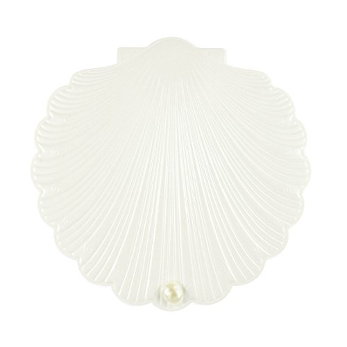 DIY PARK Personalized Sea Shell Pearl Beach Wedding Party Invitation Invite Greeting Card with Envelope Kit(Ivory, 10 sets)