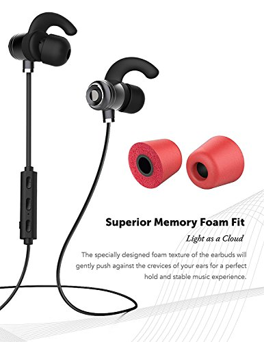 Price comparison product image Huawei Y6 Bluetooth Headset In-Ear Running Earbuds IPX4 Waterproof with Mic Stereo Earphones, CVC 6.0 Noise Cancellation, works with, Apple, Samsung,Google Pixel,LG