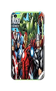 Custom Popular Marvel Comics Avengers fashionable TPU Phone Case with fashionable pictures to Make Your iphone 5c Unique
