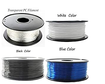 Amazon.com: W-Shufang,3D 1.75/3mm Premium PC Filament for 3D ...