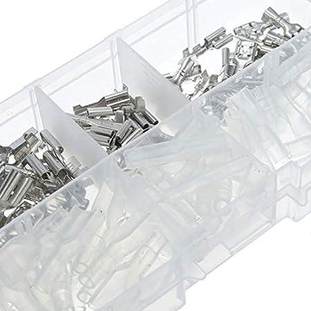 120 UNIDS 2.8mm 4.8mm 6.3mm Conjunto de Conectores de Terminal de Crimpado Terminales de Espada Femeninos Kit de Manga Aislante Con Caja de Almacenamiento