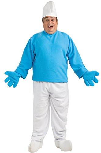 [Rubie's Costume Plus-Size The Smurfs 2 Adult Deluxe Smurf, Blue/White, Plus Costume] (Smurf Costumes Accessories)