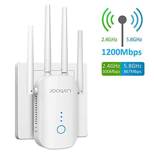🥇 JOOWIN WiFi Repetidor 1200Mbps 2.4 GHz y 5GHz Amplificador de Señal de Red WiFi de Doble Frecuencia Punto de Acceso Inalámbrico Enrutador WiFi Extensor