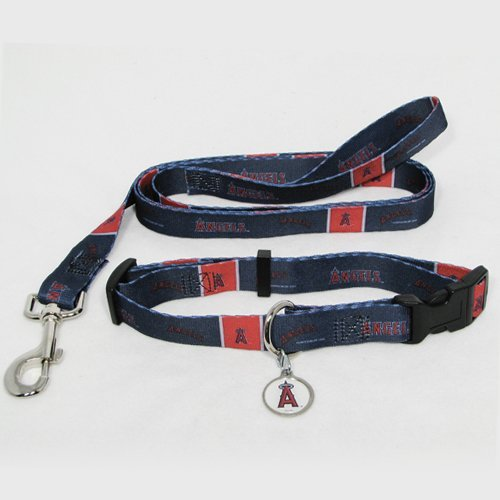 Los Angeles Anaheim Angels Pet Set Dog Leash Collar ID Tag SMALL