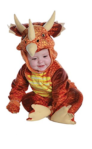 Underwraps Costumes Baby's Triceratops Costume Jumpsuit, Rust, X-Large (4-6 Yrs) -