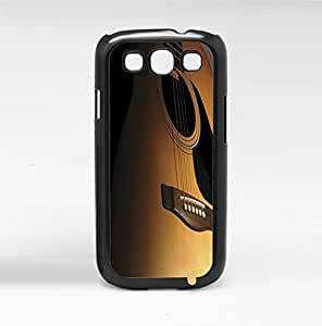 Brown up Close Acoustic Guitar Hard Snap on Case (Galaxy s3 III)