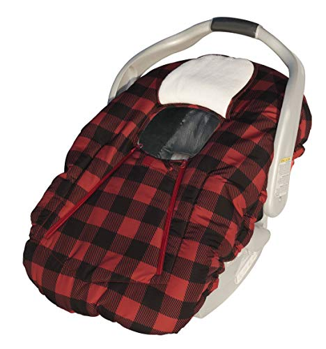 Jolly Jumper Car Seat Deluxe Cover Sneak-A-Peek - Red/Black Check