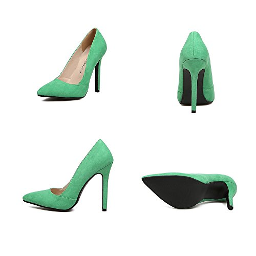 Night Candy's Pointed Club Heel Shoes green Thin Color Thin 37 High qwawtpxPS
