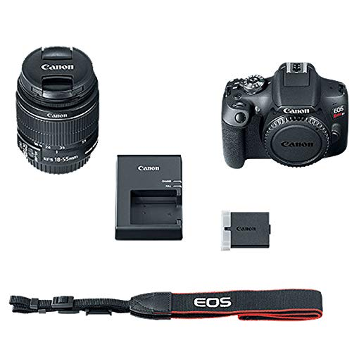 "Canon EOS Rebel T7 24MP Camera + EF-S 18-55mm is II Lens (Successor for EOS Rebel T6) + 96GB + 57"" Tripod+ Camera Bag+ Cleaning Kit+ Lexar U3 Memory + 58mm 2X Telephoto & 58mm Wide Angle Lens &More"