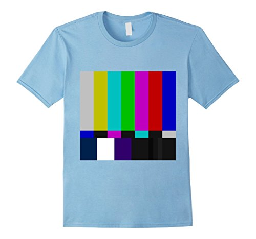 Mens TV Test Pattern T Shirt Medium Baby Blue