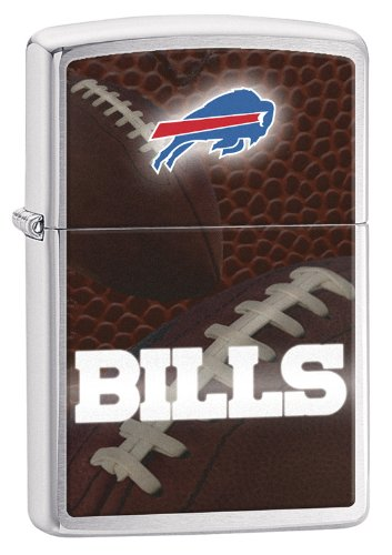 Zippo Pocket Lighter NFL Buffalo Bills Brushed Chrome Pocket Lighter
