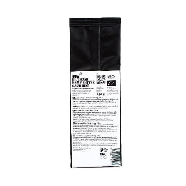 Hemp Coffee – Organic, Vegan and Gluten Free – 250 g (Classic Hemp)